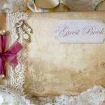 Wedding guest book - vintag..